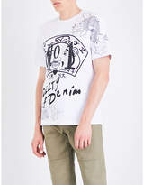 Evisu Graphic-print cotton-jersey T-shirt