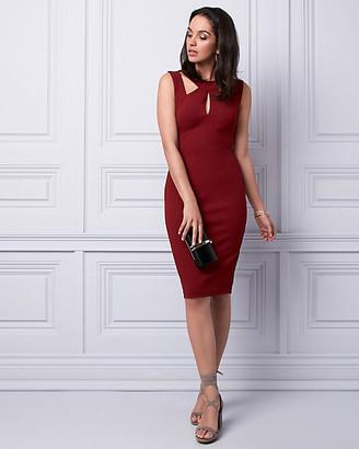 Le Château Knit Crepe Halter Dress