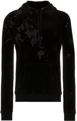 Saint Laurent Destroyed velvet hoodie