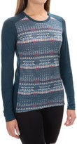 Helly Hansen Merino Wool Graphic Base Layer Top - Long Sleeve (For Women)