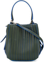 DKNY panelled shoulder bag - women - Cotton/Leather - One Size