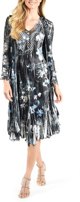 Komarov Floral Georgette & Chiffon A-Line Dress with Jacket