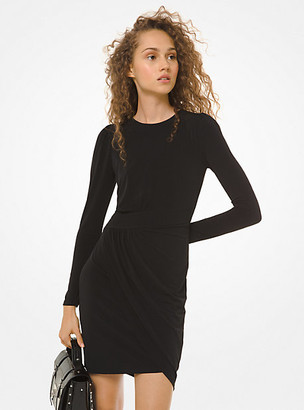 Michael Kors Matte-Jersey Wrap Dress