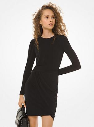Michael Kors Matte-Jersey Wrap Dress