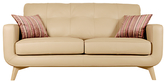 John Lewis Barbican Medium 2 Seater Leather Sofa, Prescott Buckskin