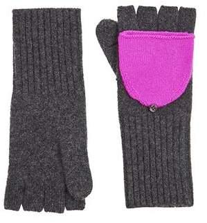 White + Warren Pop Top Glove - Charcoal/ Optimistic Pink