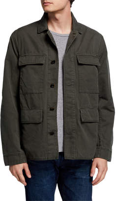 John Varvatos Men's Perry Twill Field Jacket