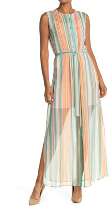Ted Baker Candy Stripe Waist Tie Dress