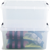Container Store 17 gal. Clear Tote with Locking Lid