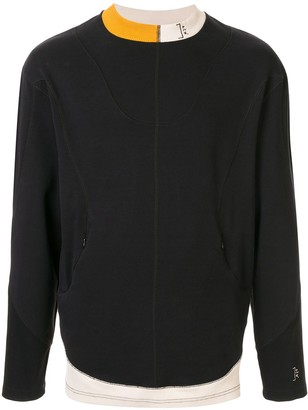 A-Cold-Wall* Contrasting Panel Relaxed-Fit Sweatshirt