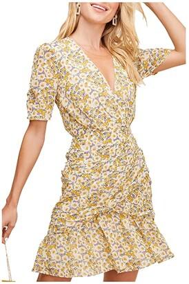 ASTR the Label Lucky Me Dress (Mustard Blue Daisy Floral) Women's Dress