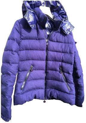 Moncler Hood Blue Wool Coats