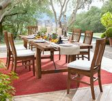 Pottery Barn Benchwright Outdoor Rectangular Extending Dining Table & Chair Set