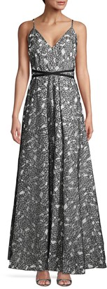 Calvin Klein Floral Lace Gown