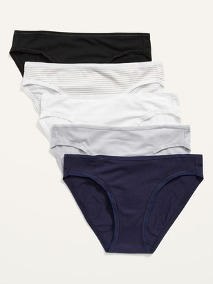 Old Navy Jersey-Knit Bikini Underwear 5-Pack for Women
