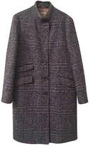 Etro Purple Wool Coat for Women