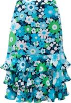Michael Kors Floral Ruffle Skirt