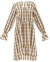 Belize - Medina Tiered Gingham Cotton-blend Dress - Womens - Orange Multi