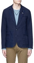 Scotch & Soda Slim fit cotton-linen soft blazer