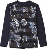 Molo Raso tiger print long-sleeved top 4-14 years