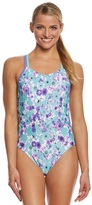 Speedo Missy Franklin Endurance Lite Floral Dreams Double Cross Back One Piece Swimsuit 8151180
