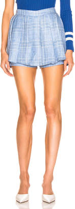 Maggie Marilyn Say You'll Never Let me Go Blue Skort in Baby Blue Check | FWRD
