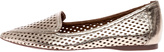 French Sole Gold Perforated Flats