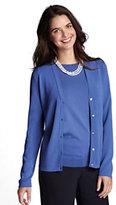 Classic Women's Petite Rayon Nylon Cardigan-True Blue