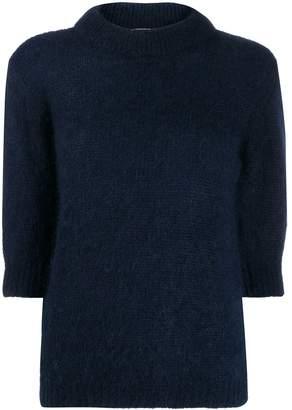 Lardini short-sleeve fitted top