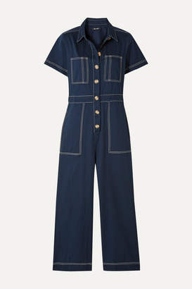 Madewell Cotton-twill Jumpsuit - Storm blue
