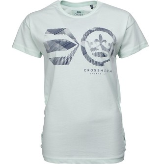 Crosshatch Womens Annabelle T-Shirt Soothing Sea