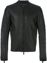 Marcelo Burlon County of Milan zipped leather jacket - men - Calf Leather - M