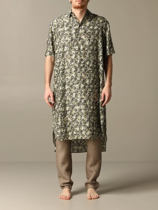Fendi Long Dress With Ff Camouflage Print