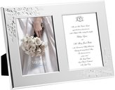 Wedgwood Vera Lace Bouquet Double Invitation Frame - 5 x 7