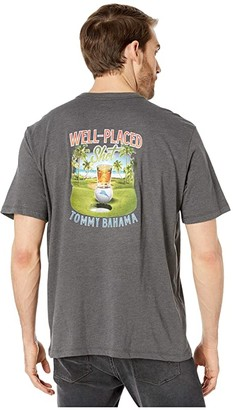 Tommy Bahama Well Placed Shot Tee (Coal Heather) Men's Clothing