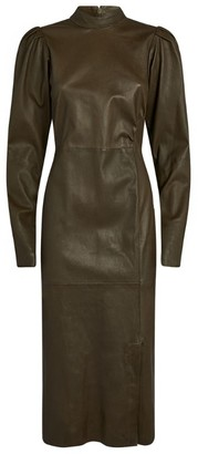 Gestuz Vilea Leather Midi Dress