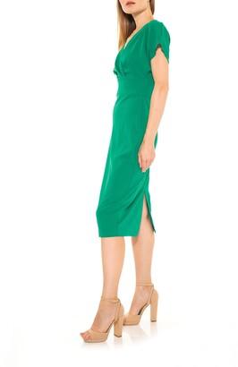 Alexia Admor Naomi Drape Surplice Neck Sheath Dress