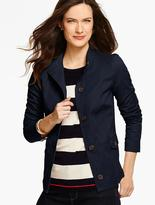 Talbots Twill Stand-Collar Jacket