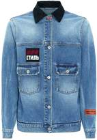 Heron Preston Vintage Denim Jacket