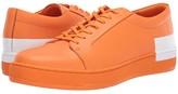 Calvin Klein Nemi (Orange Nappa Smooth Calf/Logo Over Print) Men's Lace up casual Shoes
