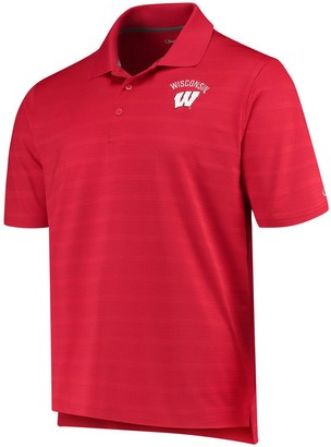 Champion Men's Red Wisconsin Badgers Textured Polo