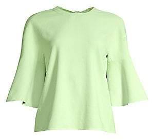 Tibi Women's Chalky Drape Ruffle Sleeve Blouse