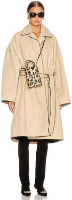Balenciaga Short Cocoon Coat in Creme | FWRD
