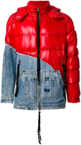 Moncler X Greg Lauren denim panel padded jacket