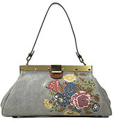 Patricia Nash Cross-Stitched Collection Ferrara Frame Satchel