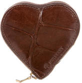 Mulberry Embossed Heart Coin Pouch