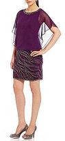 J Kara Blouson Beaded Bottom Social Sheath Dress