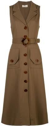 Nicholas button-up midi dress