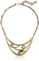 "Robert Lee Morris Spiral Jetty"" Faceted Stone Cut-Out Necklace, 16"" + 3"" Extender"