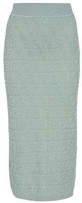 Fendi FF eco cotton midi skirt
